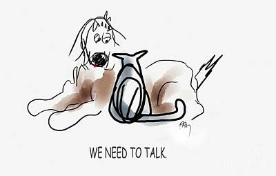 Digital Art - Need To Talk by Paul Miller