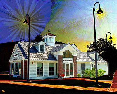 Needham Bank Ashland Ma Art Print
