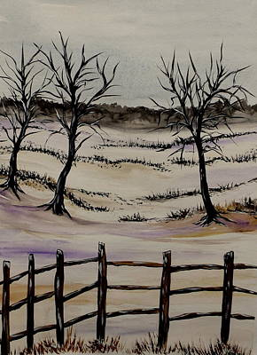 Painting - Needing Warmth by Lisa Aerts