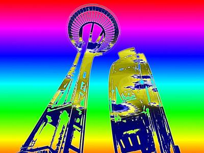 Digital Art - Needle And Ferris Wheel Fractal by Tim Allen