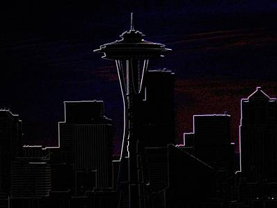 Photograph - Needle From Kerry Park 2 by Tim Allen