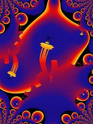 Digital Art - Needle From Kerry Park by Tim Allen