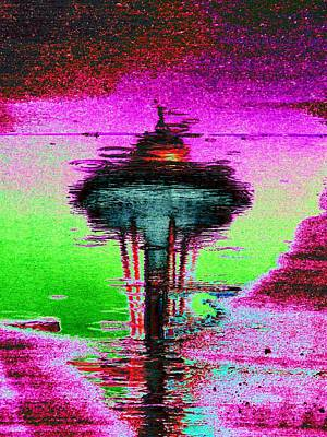 Digital Art - Needle In A Raindrop Stack by Tim Allen