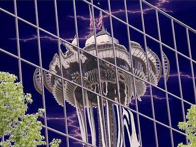 Digital Art - Needle Reflection by Tim Allen