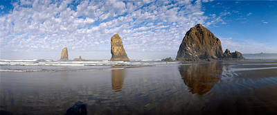 Needles And Haystack Rock Formations Art Print by Panoramic Images