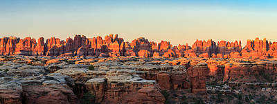 Photograph - Needles Sunrise Panorama by Johnny Adolphson