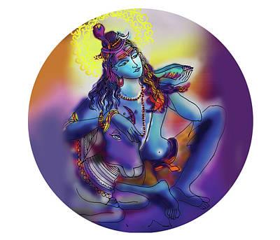 Painting - Neelakanth Shiva  by Guruji Aruneshvar Paris Art Curator Katrin Suter