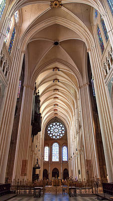 Photograph - Nef De La Cathedrale De Chartres - France by Jean-Pierre Ducondi