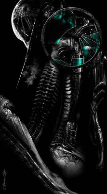 H.r. Giger Digital Art - Nefarious by Pharaoh Laboa