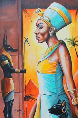Painting - Nefertiti by Henry Blackmon