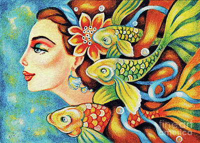 Painting - Nefertiti Sea Journey by Eva Campbell
