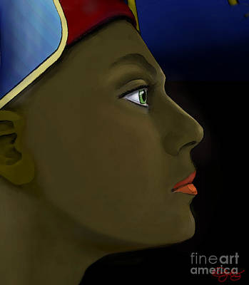 Digital Art - Nefertiti Vision by Carol Jacobs