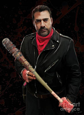 Lucille Painting - Negan by Paul Tagliamonte