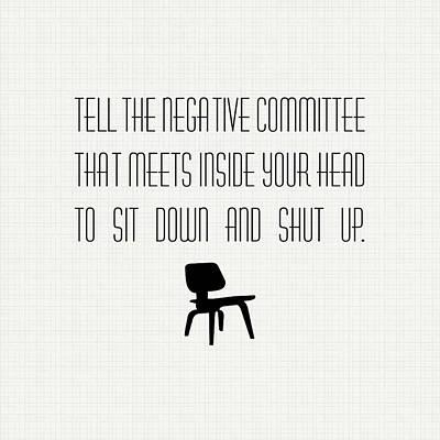 Digital Art - Negative Committee by Nancy Ingersoll