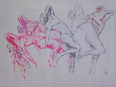 Painting - Negative Evolution by Contemporary Michael Angelo