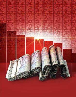 Sweden Digital Art - Negative Market Money by Allan Swart