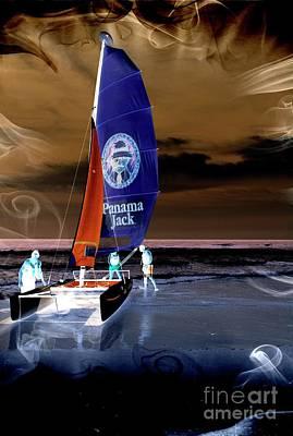 Mixed Media - Negative Sailing by Bob Pardue