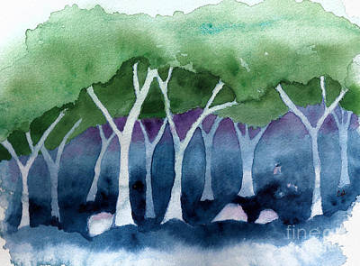 Painting - Negative Thinking Makes A Woodland Scene by Conni Schaftenaar