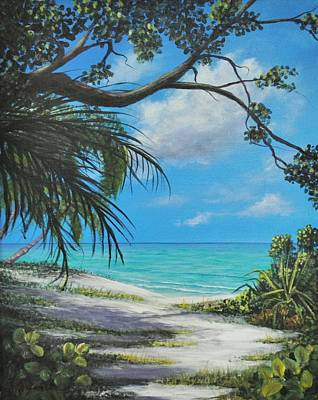 Painting - Negril Footpath by Alan Zawacki