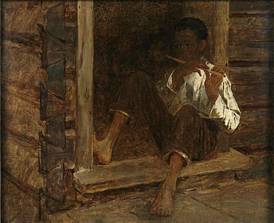 Eastman Johnson Painting - Negro Boy by Eastman Johnson