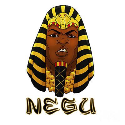 Horus Digital Art - Negu by Respect the Queen