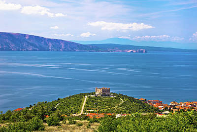 Photograph - Nehaj Fortress Above Blue Sea by Brch Photography