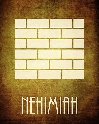 Nehimiah Icon Bible Minimal Art Art Print