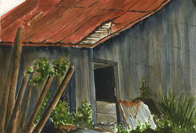 Neighbor Don's Old Barn 2 Original by Marsha Elliott