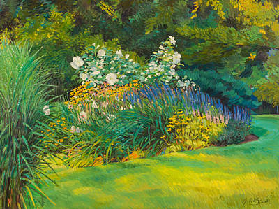 Painting - Neighbor Garden by Judith Barath