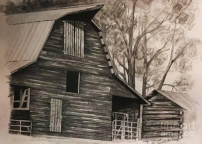 Neighborhood Barn Art Print by Carolyn Valcourt