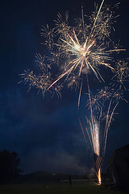 Photograph - Neighborhood Fireworks by Gene Walls
