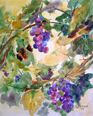 Plum Mixed Media - Neighborhood Grapevine by Kathy Braud