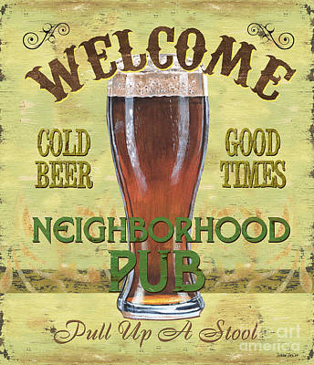 Neighborhood Pub Print by Debbie DeWitt