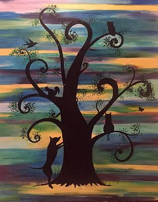 Painting - Neighborhood Tree by Vikki Angel