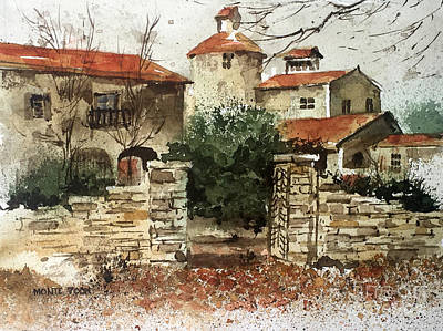 Painting - Neighbors Gate by Monte Toon