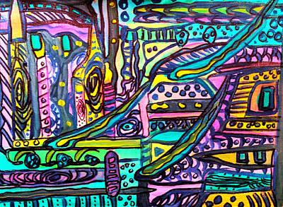 Painting - Neighbourhood 1 by Nikki Dalton