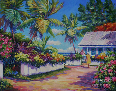 Trinidad Painting - Neighbours 11x14 by John Clark