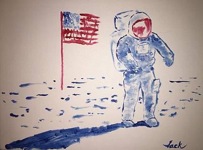 Neil Armstrong Art Print by Jack Bunds