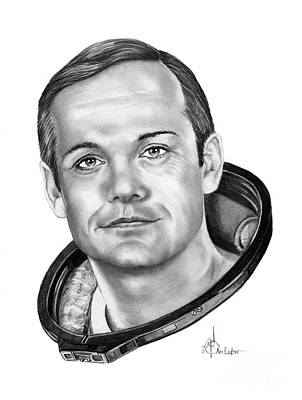 Neil Armstrong Art Print by Murphy Elliott