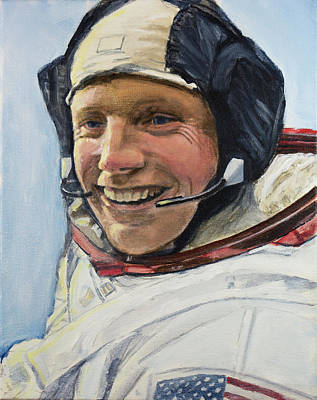 Painting - Neil Armstrong by Simon Kregar