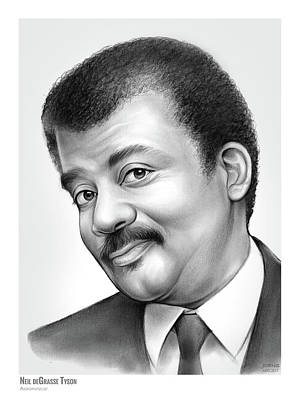 Roses Drawing -   Neil Degrasse Tyson by Greg Joens