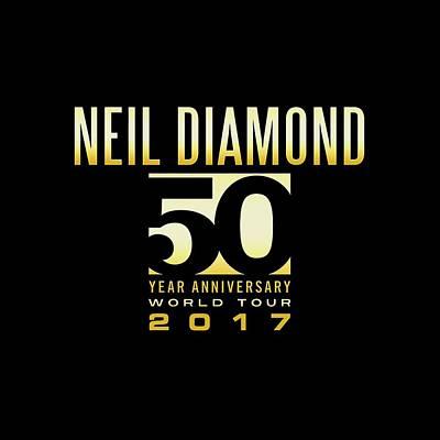 Neil Diamond Digital Art - Neil Diamond 50 Years Concert 3 by Raisya Irawan