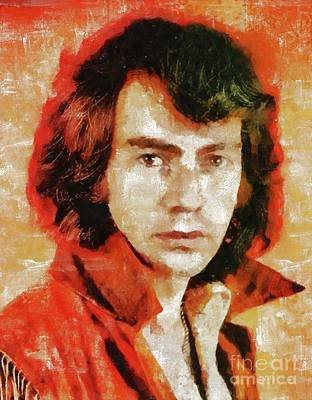 Rock And Roll Paintings - Neil Diamond by Mary Bassett by Mary Bassett