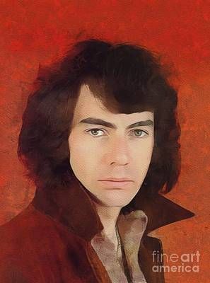 Music Royalty-Free and Rights-Managed Images - Neil Diamond, Music Legend by Mary Bassett
