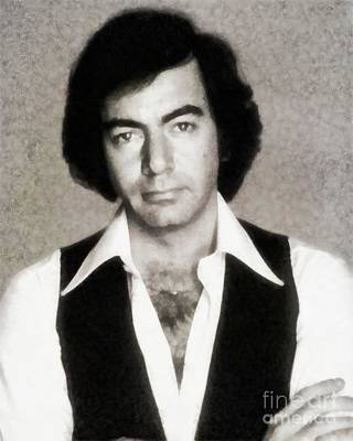 Musicians Paintings - Neil Diamond, Singer by John Springfield