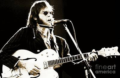 Neil Young Photograph - Neil On Guitar by John Malone