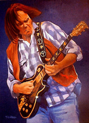 Neil Young Painting - Neil by Tom O'Hara