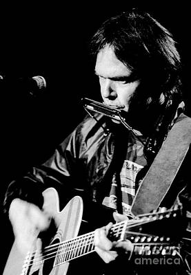 Neil Young 1986 #2 Art Print by Chris Walter