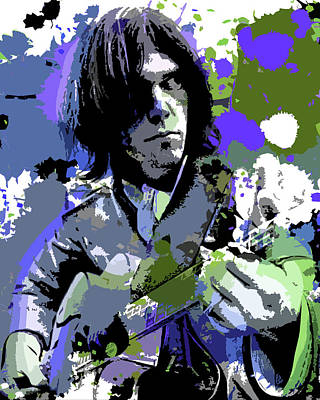 Neil Young Digital Art - Neil Young by Al Glass