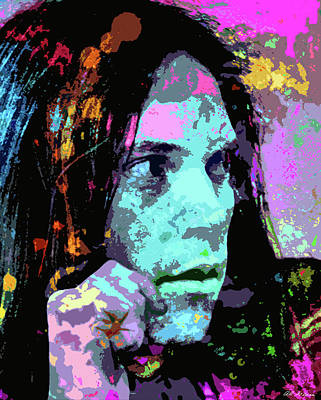 Neil Young Digital Art - Neil Young by Artworld Images